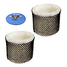 HQRP 2-pack Wick Filter for Honeywell HC-888 HC-888N Filter C HCM-890 HCM-890B HCM-890C HEV320 HEV320B HEV320W HCM-890-20 HCM-890LTG HCM-890MTG HCM-890LWS Humidifiers + HQRP Coaster