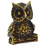 Mini Amulet Statue Wealth Owl Mythical creatures help creative ideas successfull pendants