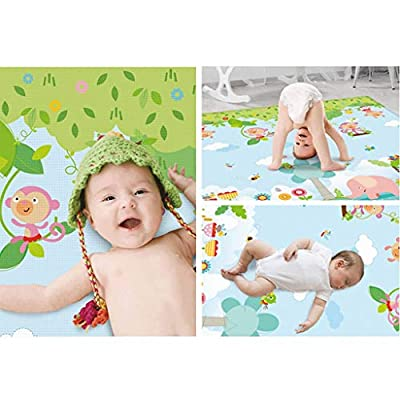 JIDSFIE Baby Crawling Mat with Flying Board, Positive and Negative Sides Available, Thick and Foldable, Baby Play Mat Activity Learning Newborn Foam Toy Parent-Child Game Mat: Toys & Games