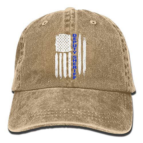 JSHG JDJG Thin Blue Line Deputy Sheriff Unisex Truck Baseball Cap Adjustable Hat Military Caps
