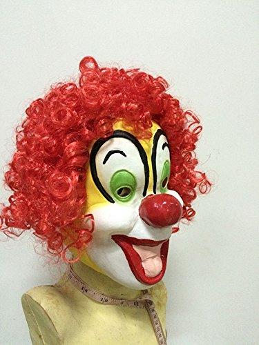 Real Life Latex Masks (Clown Full Head Latex Mask for Halloween,Dance Party ,Festival Celebration by Maskshow)