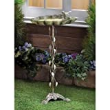 Birdbaths Verdigris Leaf Metal Cast Iron Bowl Molds Outdoor Tiffany Style Bird Visitor Water Feeder Liner