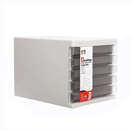 Storage Caja de Almacenamiento Gabinete para archivador de Escritorio Cajón Mini archivador de plástico pequeño Caja