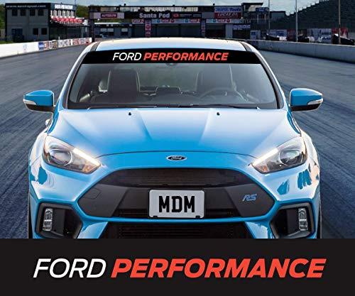 CELYCASY Ford Performance Sun Strip Sunstrip Windscreen Sticker Decal Universal Focus Fiesta Mondeo KA
