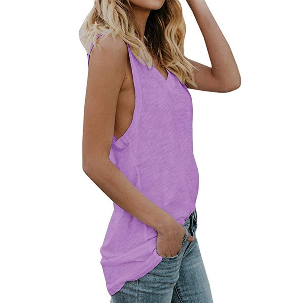 Women Tank Top,Lowprofile Lady's Casual Fashion V Neck Camisole Sleeveless Summer Lightweight Top Polka Dot Chffion Cami Top by Lowprofile Tank Top Camis (Image #2)