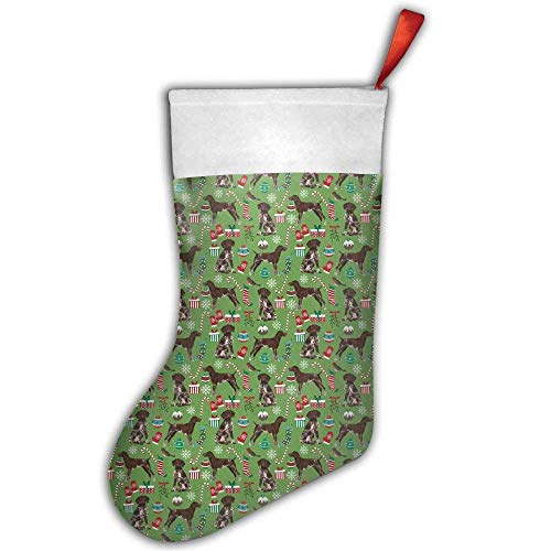 Cap shorts German Shorthaired Pointer Dogs Christmas Holiday Xmas Christmas Hanging Stocking,Assorted Santa Gift Socks Hanging Accessories for Xmas Tree Decoration Only Printed One Side ()