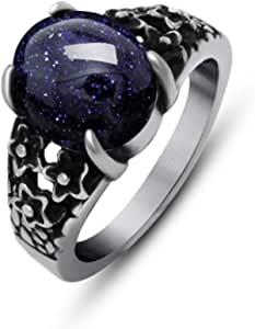 أحجار كريمة رمان التيتانيوم خاتم أحمر معدن مجوهرات الرجال والنساء خاتم الطبخ شخصية الاستبداد