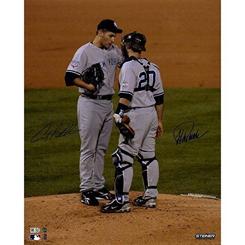 Pettitte World Series (Andy Pettitte/Jorge Posada Dual Signed 2009 World Series 16x20 Photo Steiner Coa)