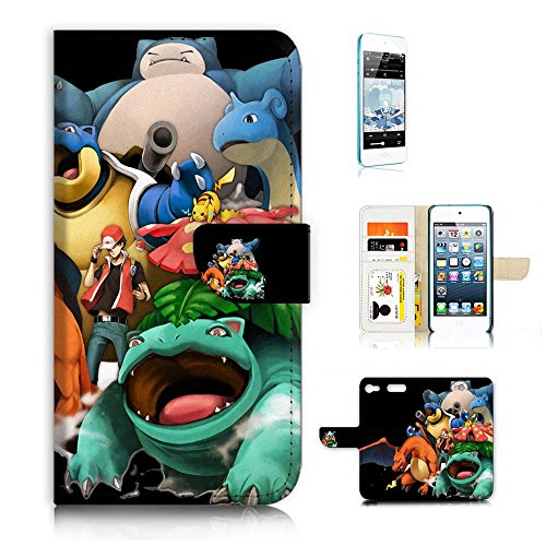 iPod Touch 6 iTouch 6 Flip Wallet Case Cover & Screen Protector Bundle! A20095 Pokemon Pikachu - Ipod Touch Pokemon Case