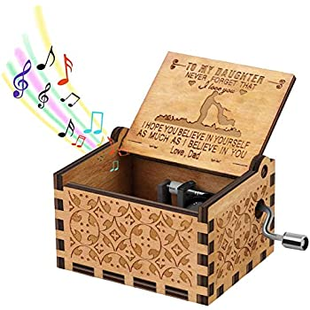 I Love You Engraved Music Box Gift To My Girlfriend//To My Daughter-