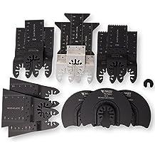 15 Wood/Metal Professional Oscillating Multi Tool Quick Release Saw Blades for Fein Multimaster, Dremel Multi-Max, Dewalt, Craftsman, Ridgid, Makita, Milwaukee, Rockwell, Ryobi, and More