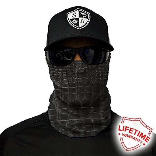 Salt Armour Face Mask Shield Protective Balaclava Bandana Microfiber Tube Neck Warmer (Alligator Skin) by SA Company