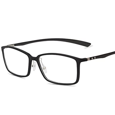 Amazon.com: Carbon Fiber Material Eyeglasses Women and Men Flexible ...