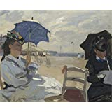 The high quality polyster Canvas of oil painting 'Claude Oscar Monet The Beach at Trouville ' ,size: 8 x 10 inch / 20 x 25 cm ,this Vivid Art Decorative Prints on Canvas is fit for Foyer gallery art and Home gallery art and Gifts