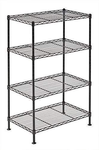 Sandusky Lee WS201232-B Industrial Welded Wire Shelving, 20' Width x 32' Height x 12' Depth, Black