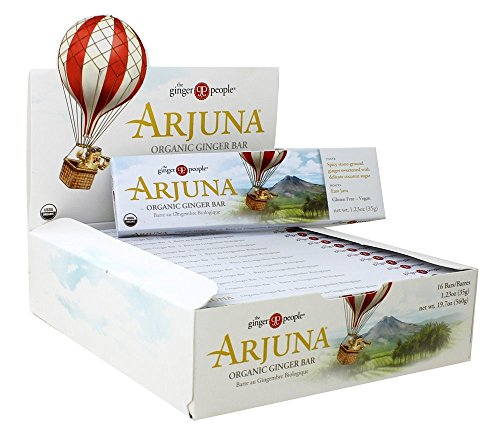 Ginger People - Organic Gin Gins Arjuna Ginger Bar - 16 Bars