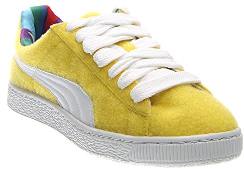 Puma x Dee & Ricky Basket (9.5 D (M) US, Vibrant Yellow-White)