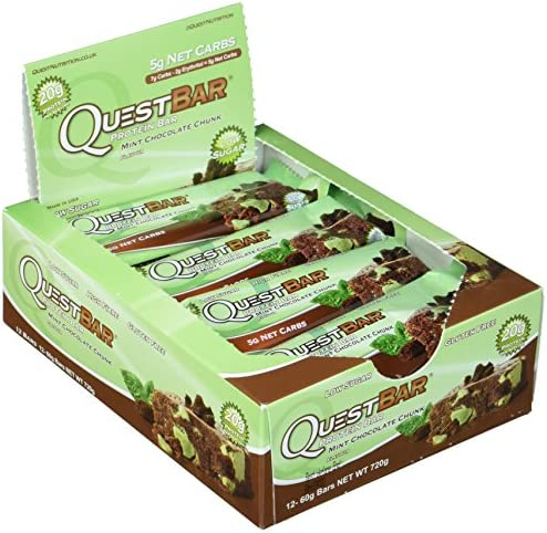 Quest Nutrition bars, Mint Chocolate Chunk, 60 g