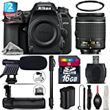 Holiday Saving Bundle for D7500 DSLR Camera + AF-P 18-55mm + Battery Grip + 2yr Extended Warranty + 16GB Class 10 + 72 Monopod + UV Filter + Cleaning Kit + Cleaning Brush - International Version