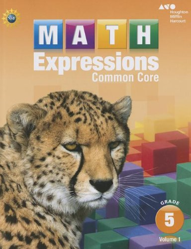 Math Expressions: Student Activity Book, Volume 1 (Softcover) Grade 5