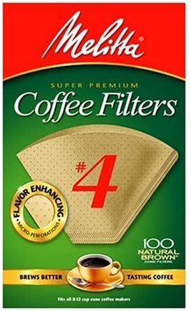 Melitta Cone Coffee Filters, Natural Brown #4, 100 Count (Pack of 3) 51rI4oD34JL