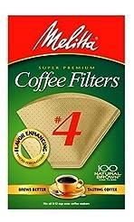 Melitta Cone Coffee Filters, Natural Bro...