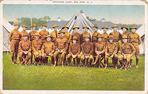 Sea Girt New Jersey Officers Camp Military Antique Postcard K99408