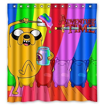 New Arrival Polyester Bath Curtains Print Beemo Adventure Time Bathroom Shower 66 X 72 Amazonca Home Kitchen