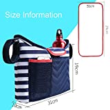 Lmeison Baby Stroller Organizer With Portable Changing Pads/Shoulder Strap/Baby Stroller Straps, Stylish Designer & Organizer For Smart Moms, Fits All iPhones, Diapers, Toys, Wallets, Books etc.