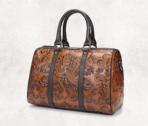 Trabajo de señora Vintage Hecho Bolso Bolso de Casual de de de Diario Bolso BAO Mano Compras Cuero Viaje a Eq4xawZn1