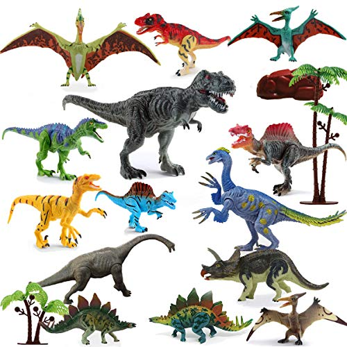 Dinosaur Toys Realistic,FUNNISM 17-pack 9