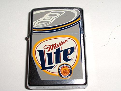 Zippo Miller Lite Beer Can Brushed Chrome Lighter