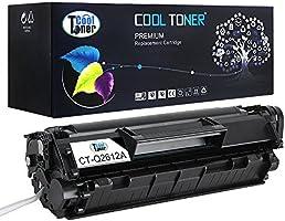 Cool Toner Cartucho de tóner de repuesto para HP 12A Q2612A, para HP LaserJet 1010,1012,1018,1020,3015,1015,3020,3030,3050,3052,3055,imageClass MF4150,I-Sensys MF4150, 1 paquete para 2000 páginas
