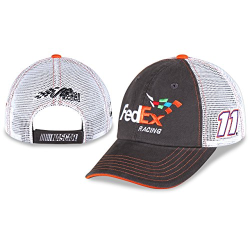 denny-hamlin-fedex-racing-cfs-sponsor-trucker-mesh-nascar-adjustable-hat-cap
