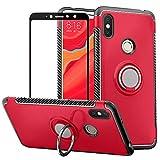 ccc293e22e5 BestAlice Funda para Xiaomi Redmi S2 / Redmi Y2 Case Protector de Pantalla  de Cristal Templado, Híbrida Rugged Armor Choque Absorción Protección Dual  Layer ...