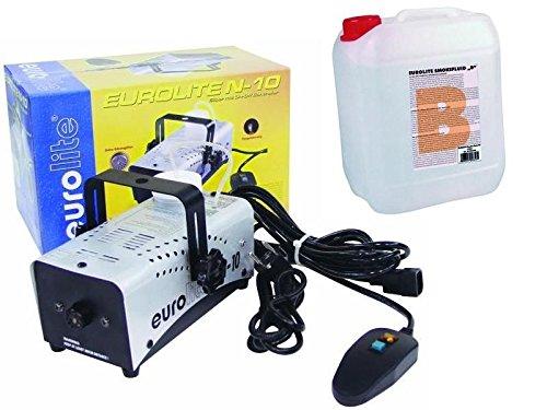 EUROLITE N-10 Nebelmaschine, mit Kabelfernbedienung + 5Liter FLuid B2D