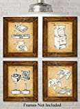 Guild Product - Original Video Games Patent Art Prints - Set of Four Photos (8x10) Unframed - Great for Game Room Decor