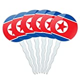 Set of 6 Cupcake Picks Toppers Decoration Country National Flag J-N - North Korea National Country Flag