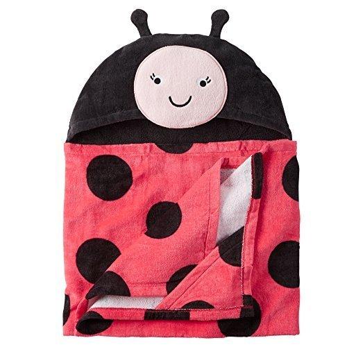 - Baby Bath Towel Hooded (Multiple Styles) (Ladybug)