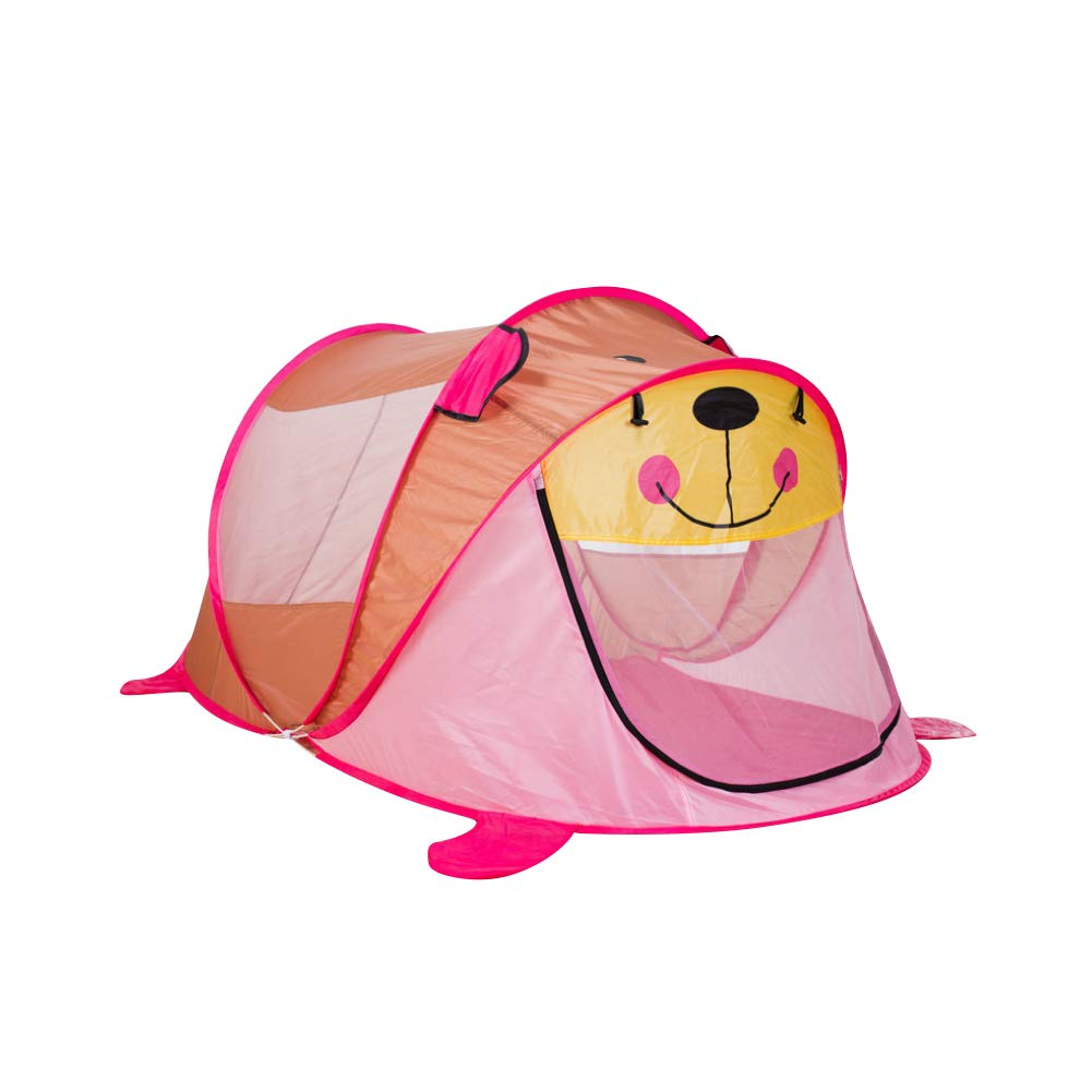 Liitrton Large Space Kids Play Tent Polyester Foldable Pop Up Tent for Kids Indoor and Outdoor (Pink)