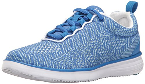 Propet Women's Travelfit Pro Walking Shoe, Blue/White, 9 W US