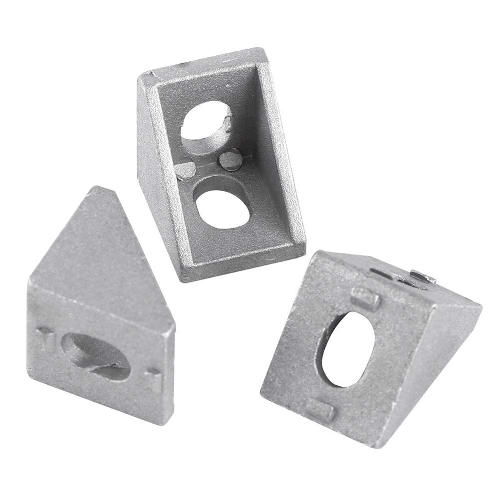 gotyou 10 Pcs 2020 Aluminum Profiles Corner Bracket,Tripod Corner Piece,Right Angle Connector,Right Angle Bracket,Joint Brace Fastener with T-Nut Screws,Industry Home Hardware 17 * 20mm