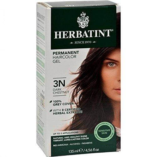 Bioforce Herbatint Permanent Herbal Haircolour Gel 3N Dark Chestnut (4.50 Ounces) by Bioforce by Bioforce