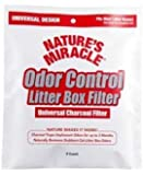 Natures Miracle Odor Control Universal Charcoal Filter,