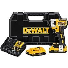 DEWALT DCF887D2 20V MAX XR Li-Ion 2.0 Ah Brushless 0.25-Inch 3-Speed Impact Driver Kit