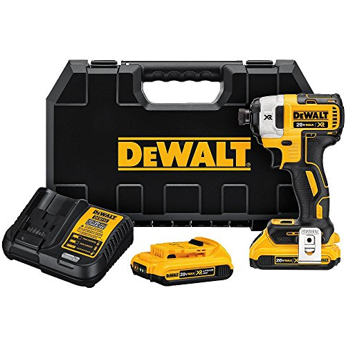 "DEWALT DCF887D2 20V MAX XR Li-ion 2.0 Ah Brushless 0.25"" 3-Speed Impact Driver Kit"