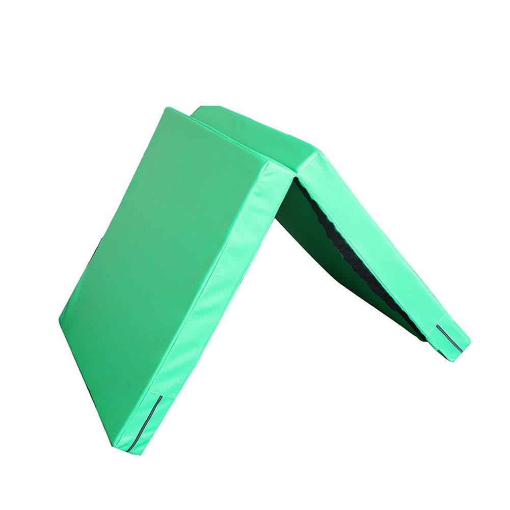 【国内即発送】 ZJ ZJ 体操用マット折りたたみエクササイズジムマット、PUパネルフィットネスエクササイズホームマット、滑り止め10cm厚タンブリングマット79×39インチ Green (色 : (色 青) B07MD9YTKZ Green Green, eフリーデン:bbba1883 --- arianechie.dominiotemporario.com