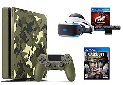 PlayStation 4 Slim Call Of Duty WWII Bundle 2 Items PS4 1TB