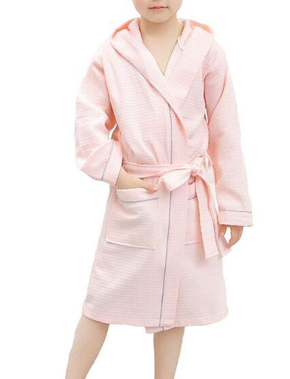 Suplove Childrens Summer Cotton Bathrobe boy Girl Hooded hot Spring Swimming Sleeping Robe