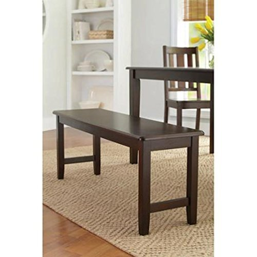 Better Homes and Gardens Brown Two Seat Dining Bench, Mocha, Espresso for Table, Hallway, Entryway or Even Patio by Bankston